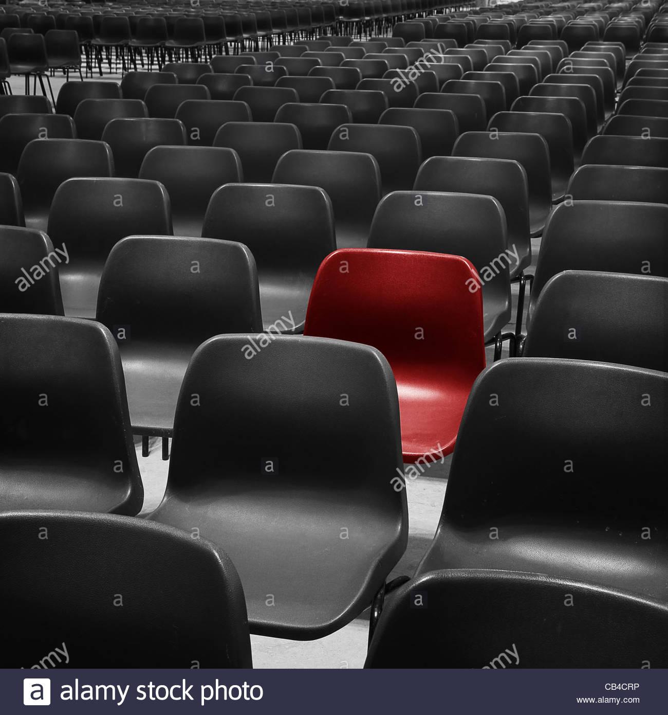asiento rojo Imagen De Stock