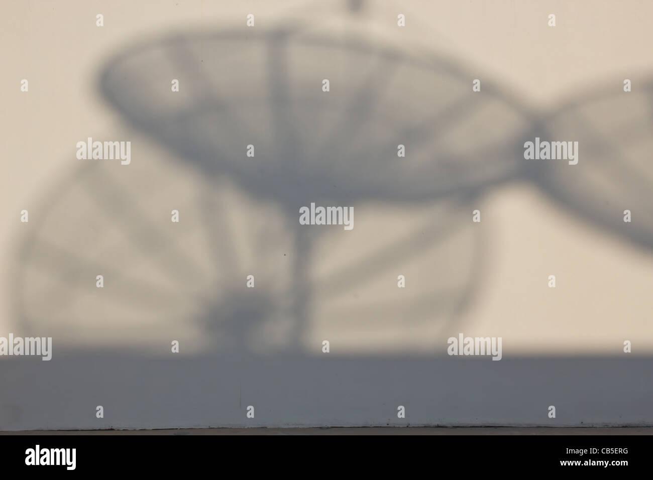 ,Conectar vía satélite, antena, azul, llamada célula, canal, comunicarse, comunicaciones, datos, Imagen De Stock