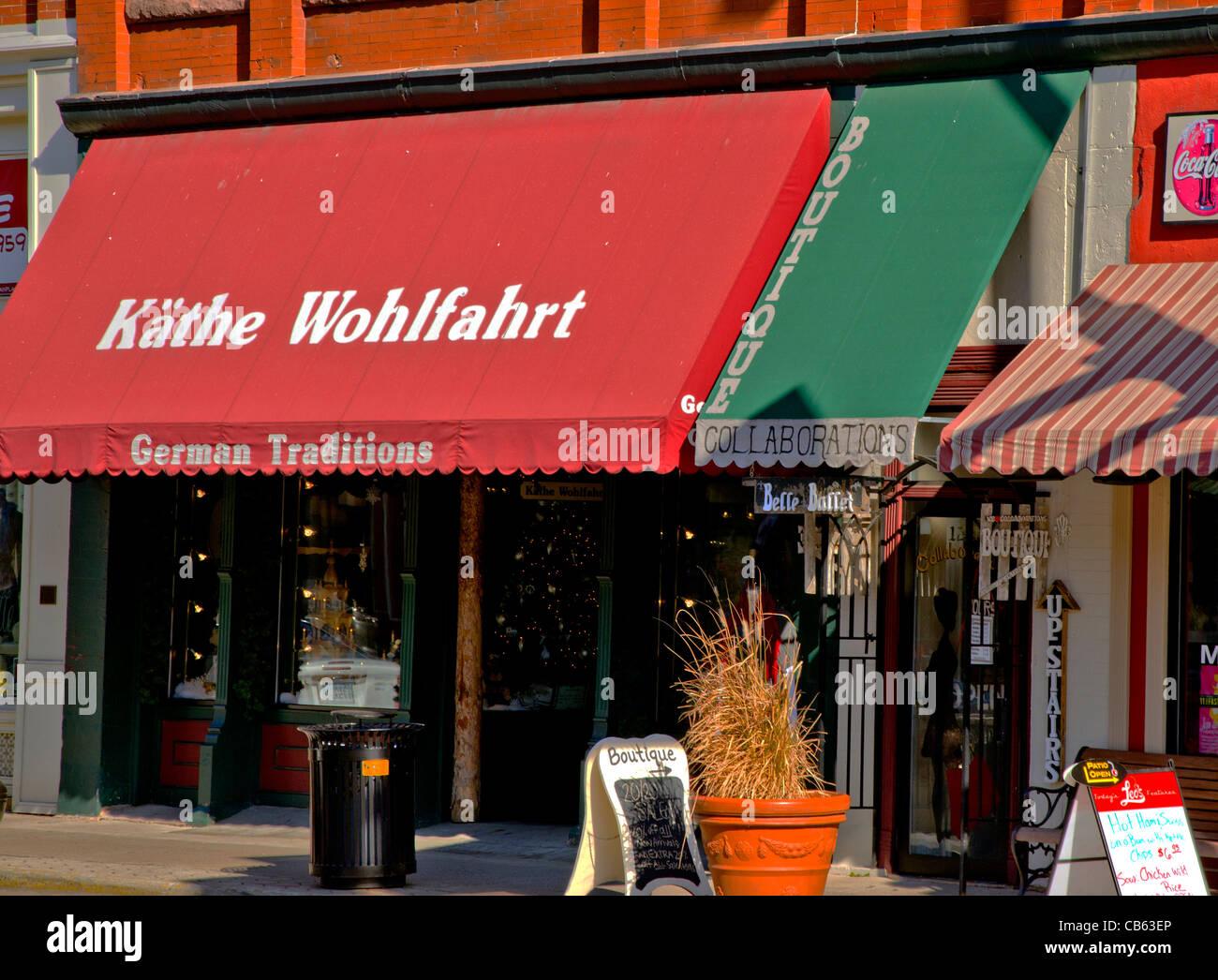 Las tradiciones alemanas tienda Kathe Wohlfahrt puso en Stillwater, Minnesota Imagen De Stock