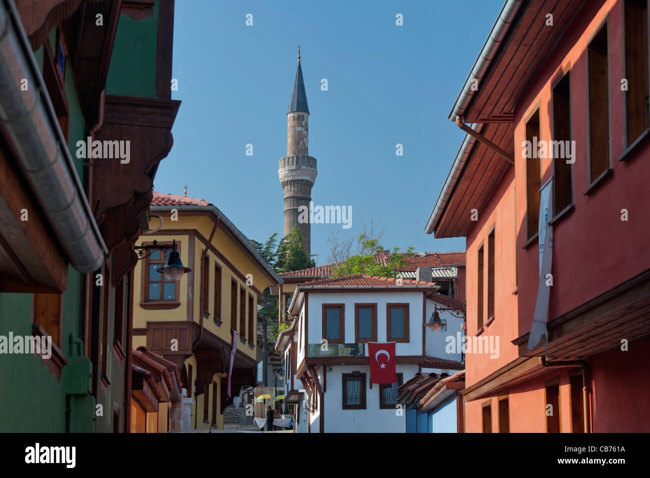 Odunpazarı casas tradicional turca Eskişehir Turquía Imagen De Stock