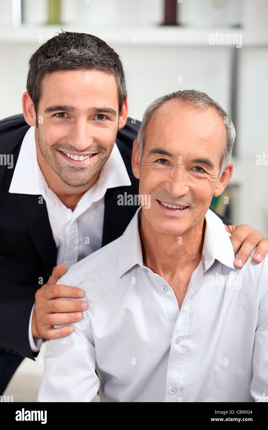 Retrato de padre e hijo Imagen De Stock
