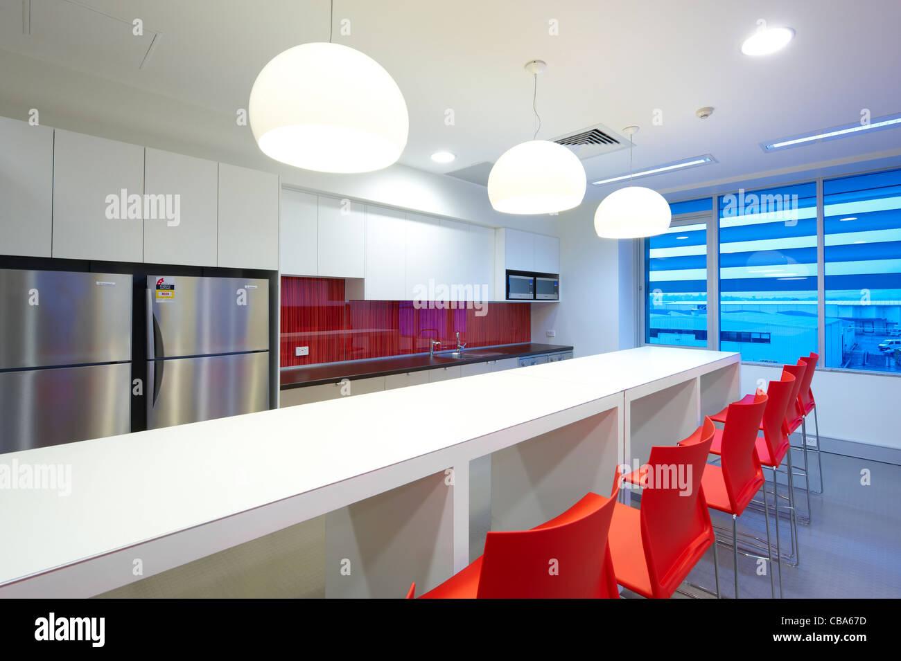 Moderna cocina comercial & comedor Imagen De Stock