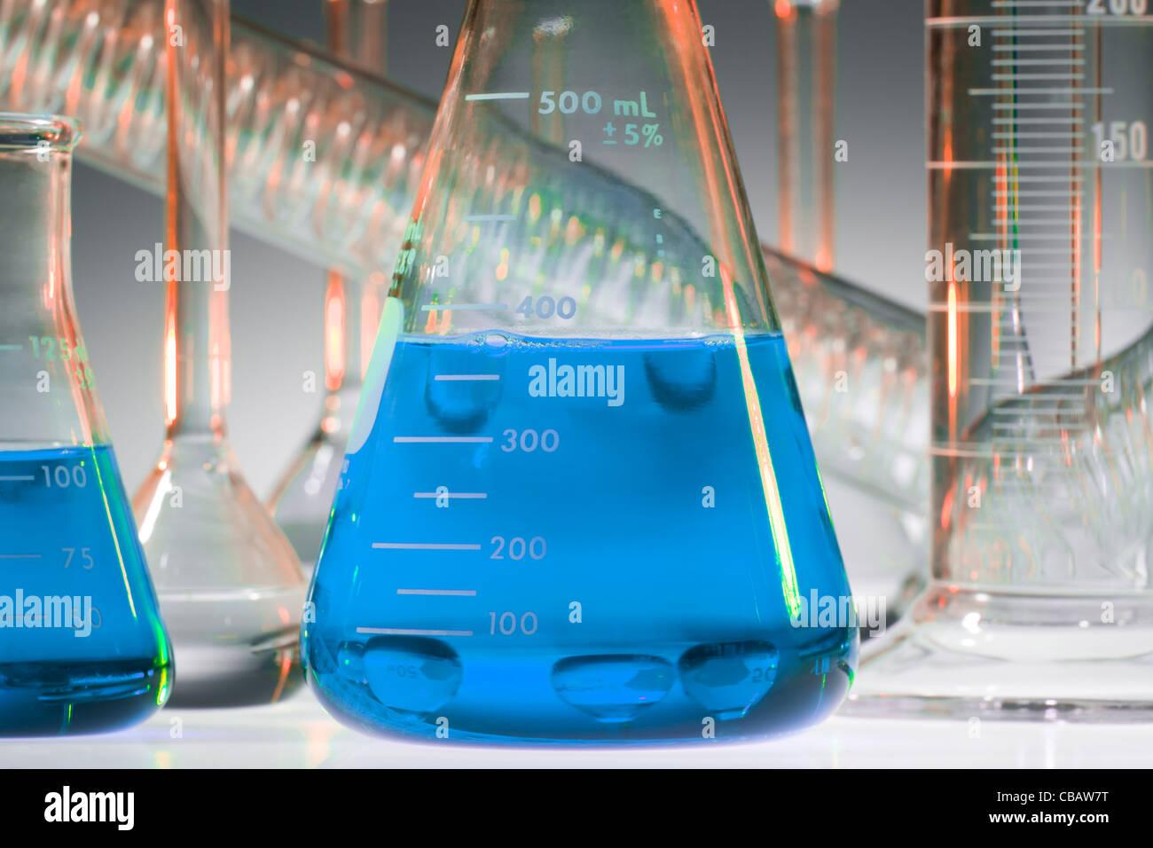 Cristalería químicas Imagen De Stock