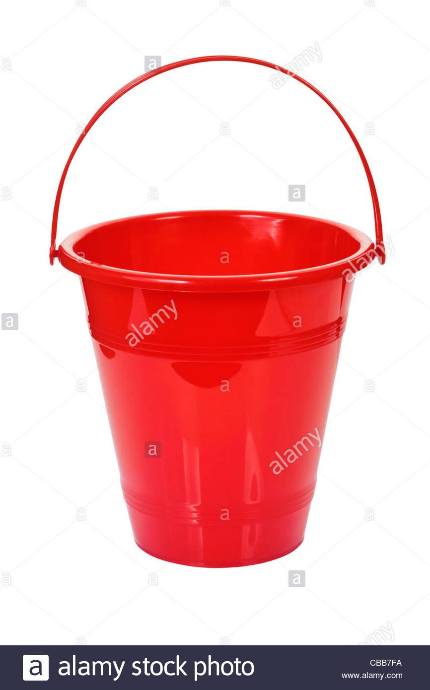 Cubo rojo Foto de stock