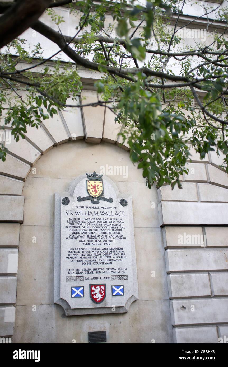 Placa marcó el lugar del líder rebelde escocés Sir William Wallace ...