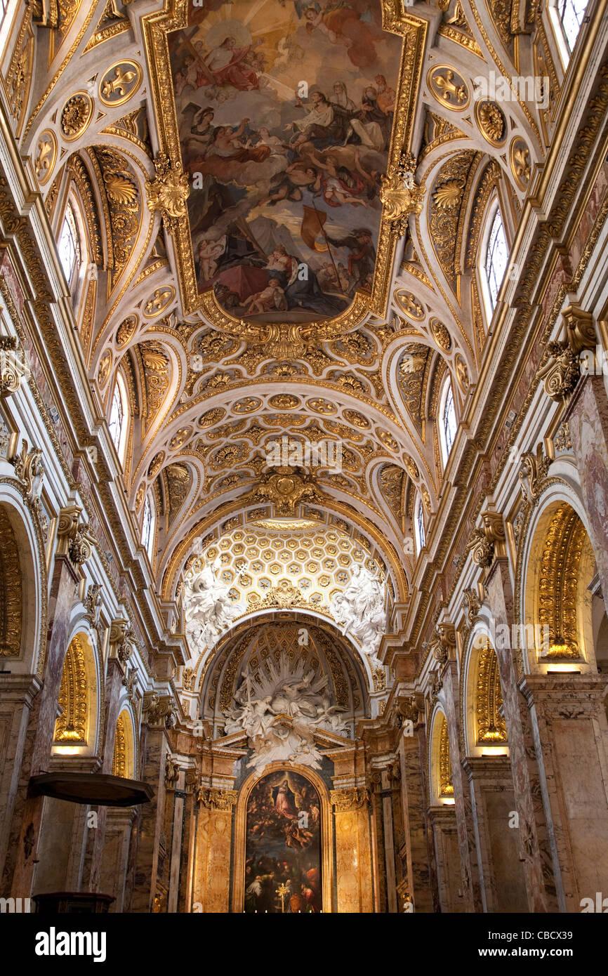 Chiesa di San Luigi dei Francesi - Iglesia de San Luis de los Franceses, Roma Foto de stock