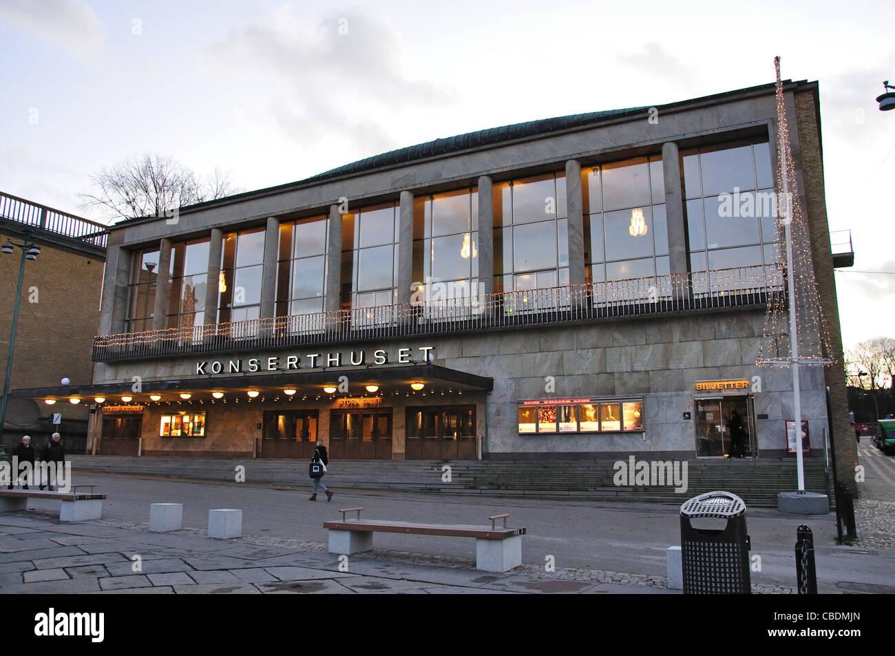 Sala de Conciertos de Gotemburgo, Götaplatsen, Gotemburgo, Västergötland y la provincia de Bohuslän, Reino de Suecia Foto de stock