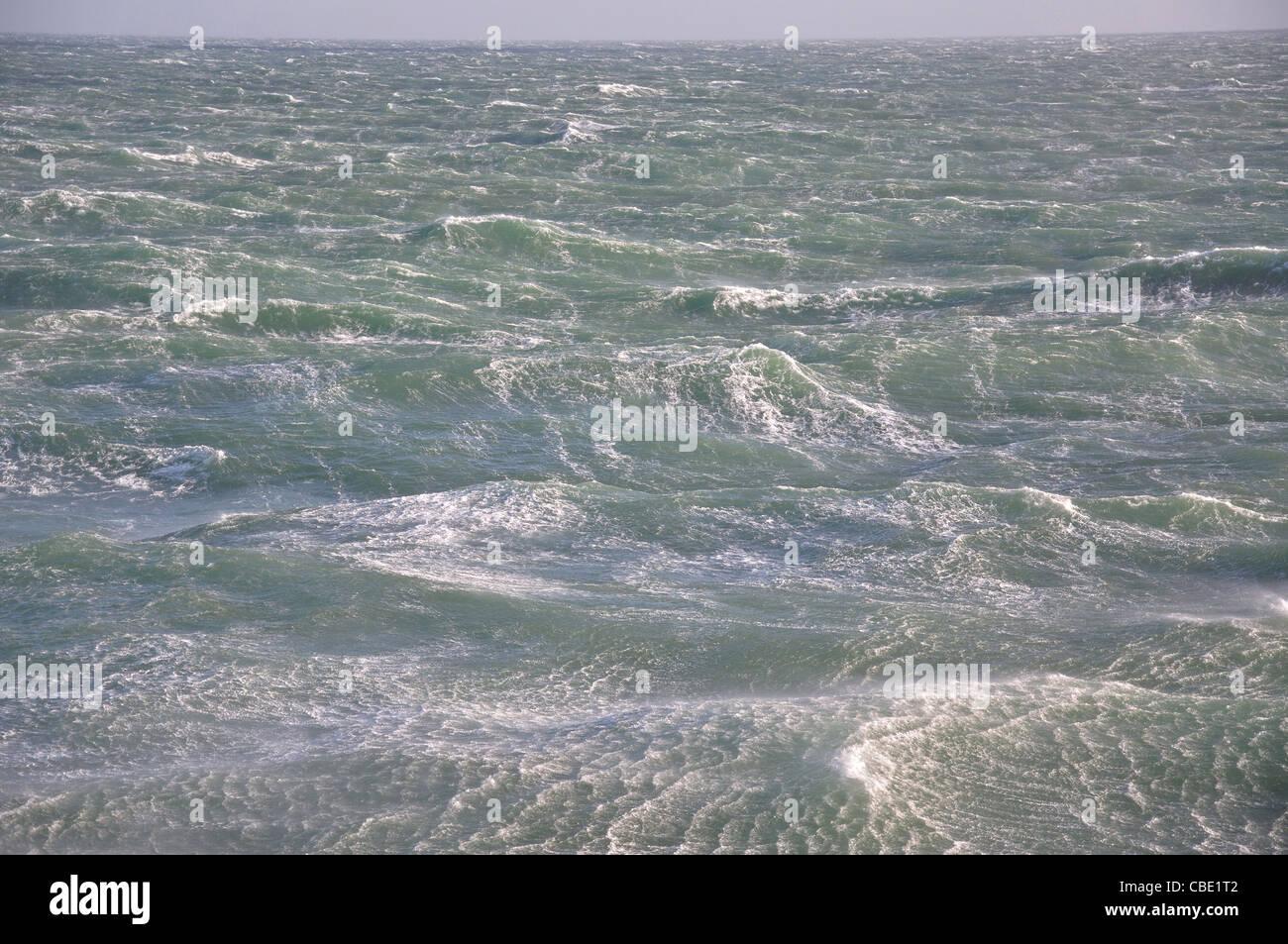Mar agitado y spray, Mar del Norte, Europa Imagen De Stock
