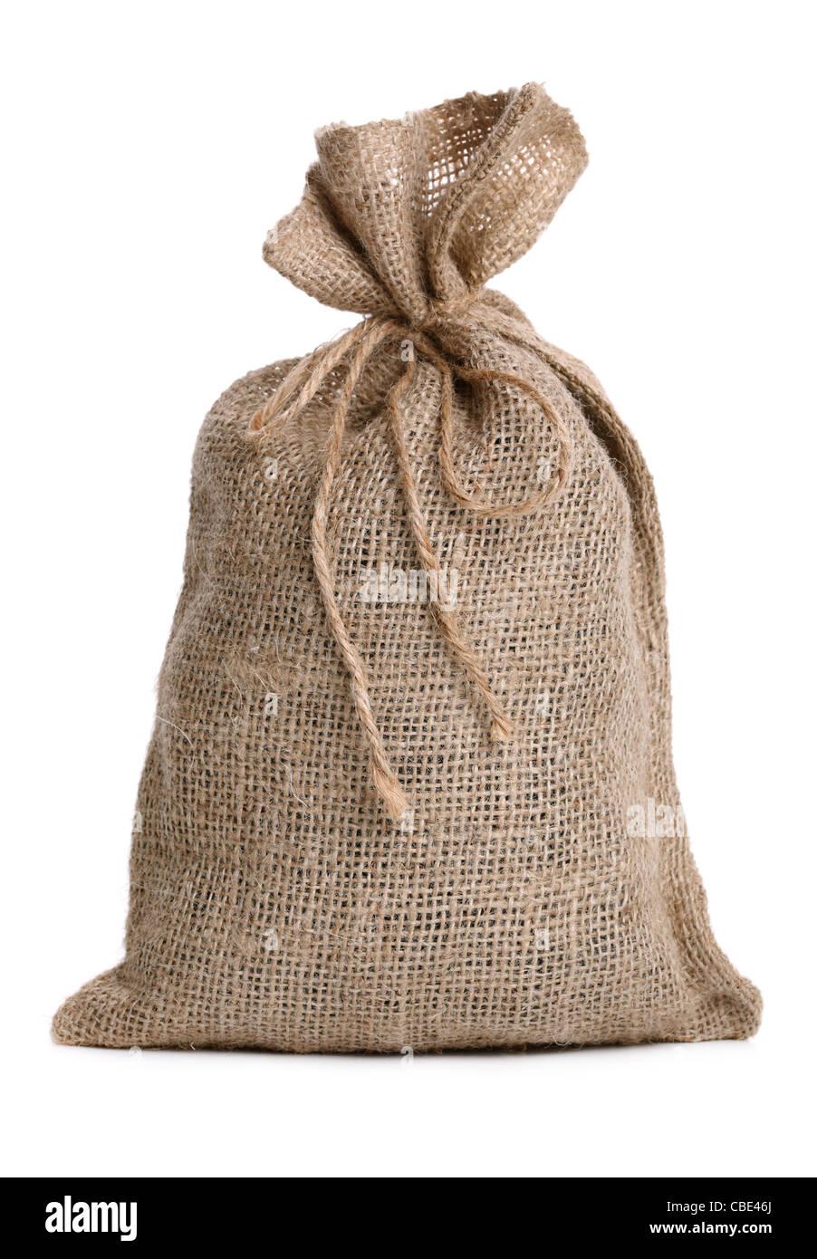 Bolsa de arpillera Foto de stock