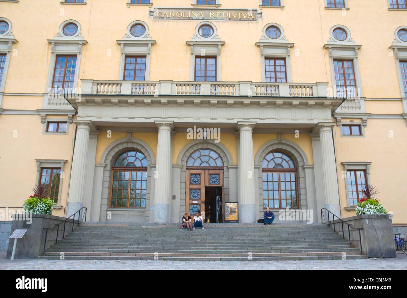 Carolina Rediviva (1841) la biblioteca de la universidad de la ciudad de Uppsala exterior Svealand Provincia Europa Suecia Foto de stock