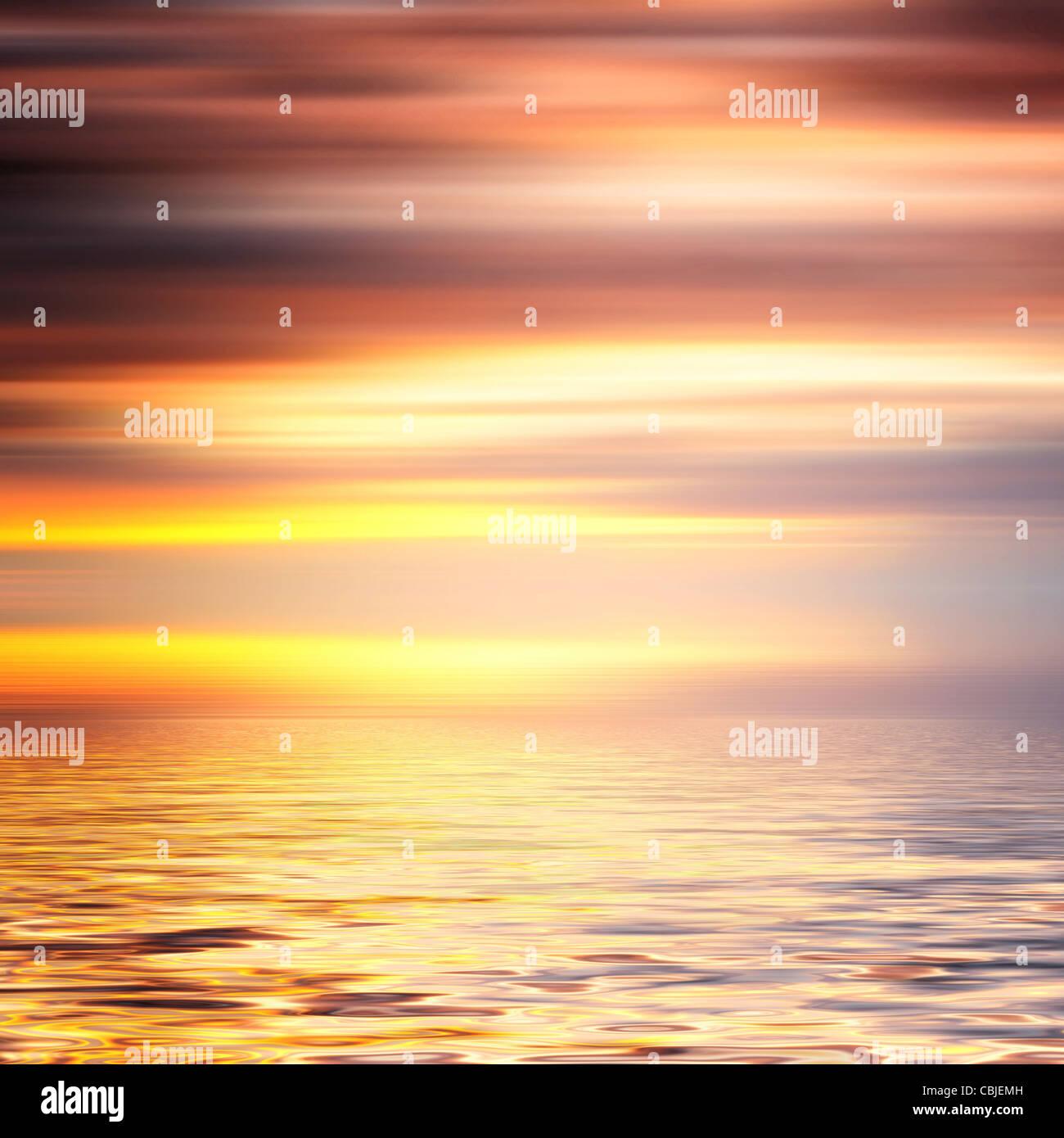 Hermoso colorido el agua y el cielo de fondo abstracto Imagen De Stock