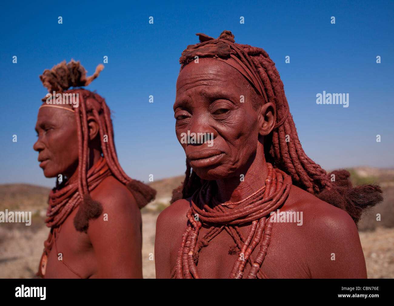 Las mujeres Himba, Angola Foto de stock