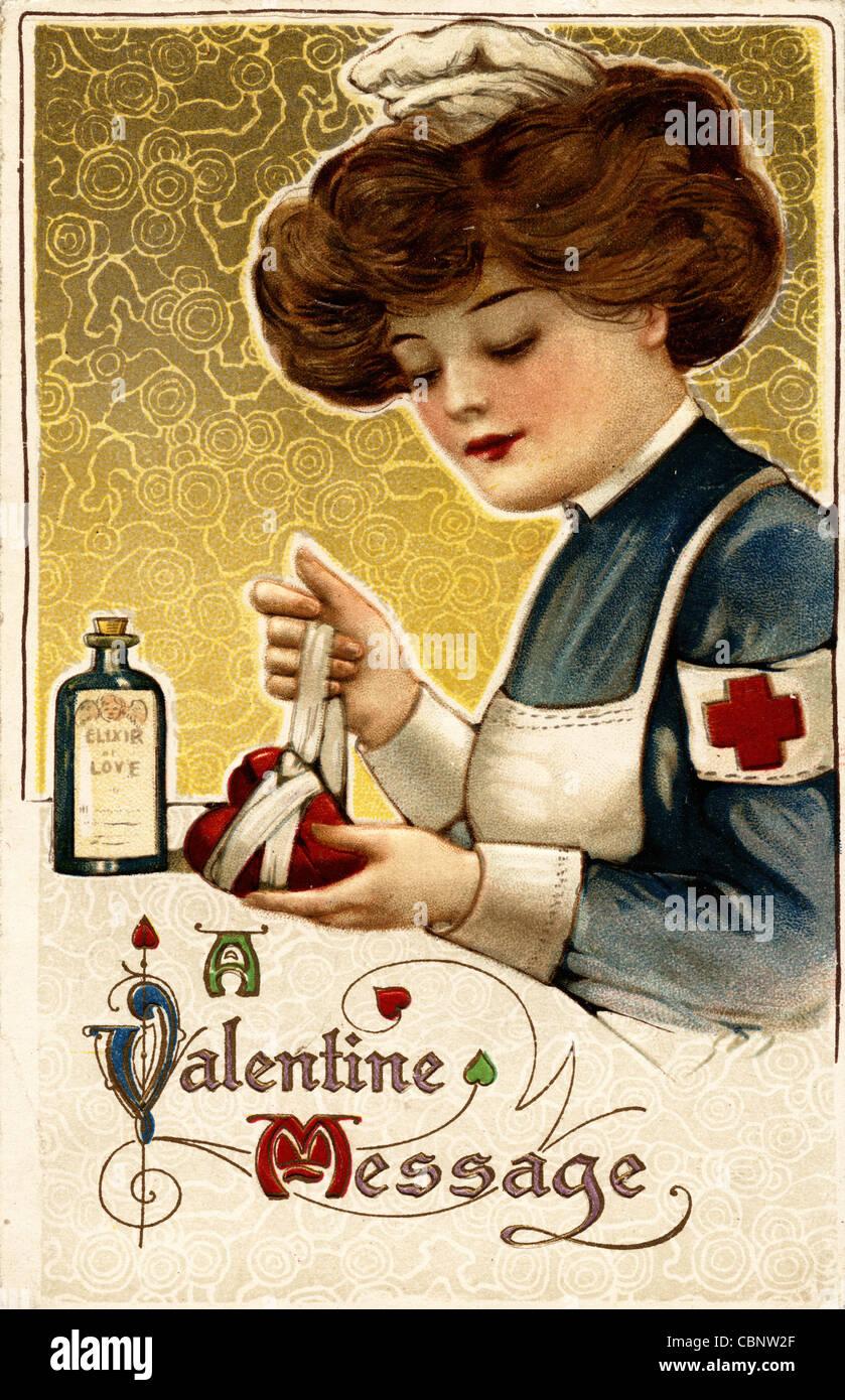 Recomponer un corazón roto de San Valentín Imagen De Stock