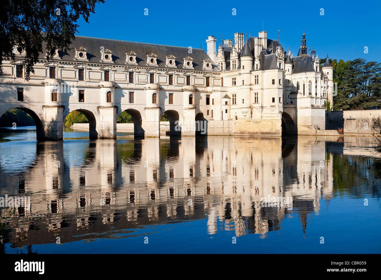 Valle del Loira , Château de Chenonceau Imagen De Stock