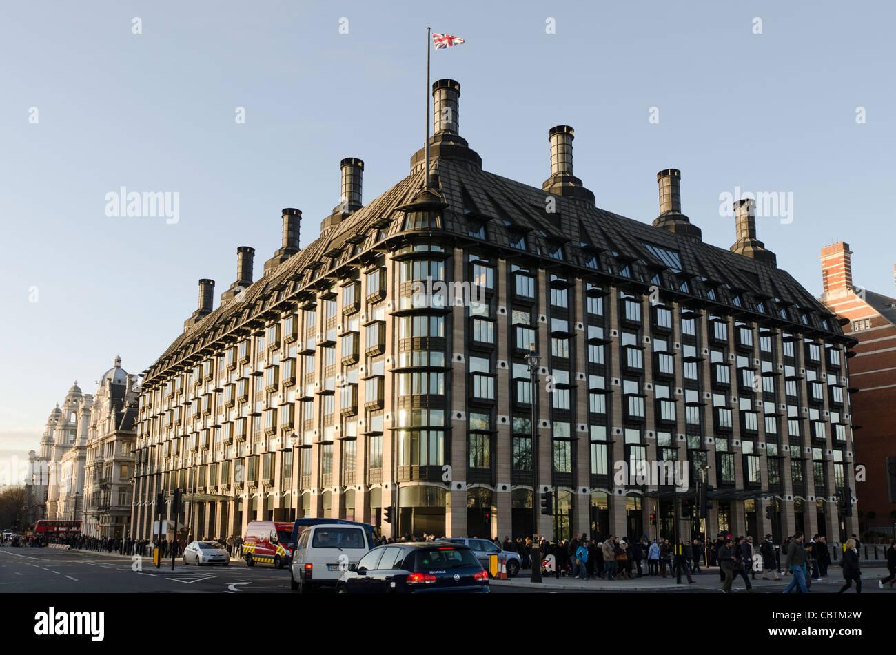 Portcullis House oficinas a miembros del Parlamento, London SW1A 2LW Westminster Londres, Gran Bretaña. Foto de stock