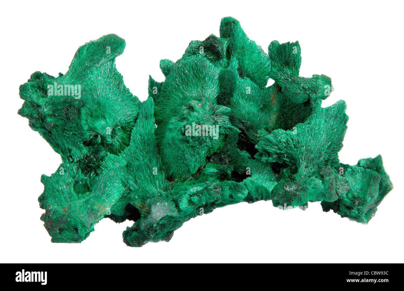 Mineral de Malaquita Foto de stock