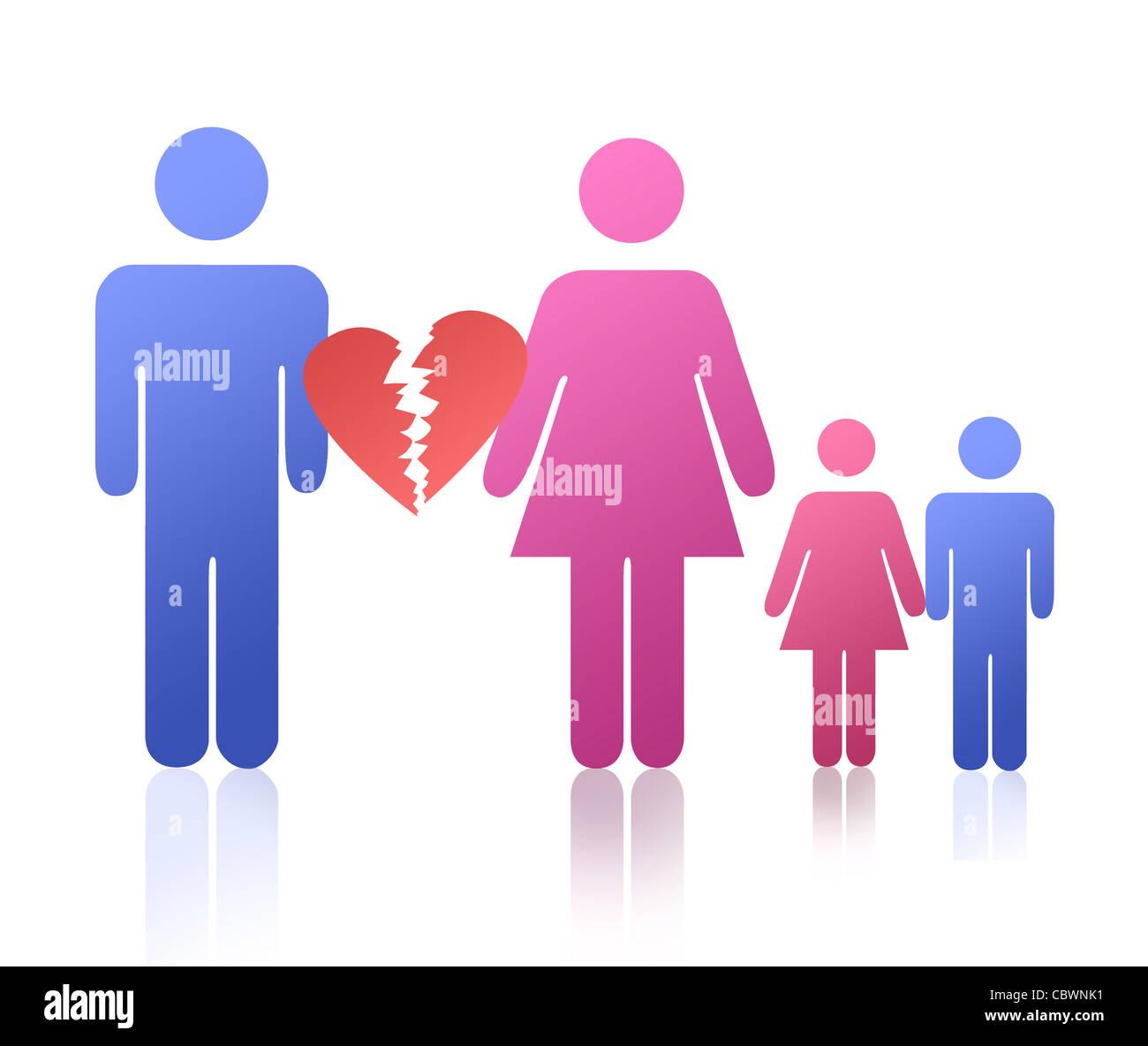 Divorciarse de Imagen De Stock