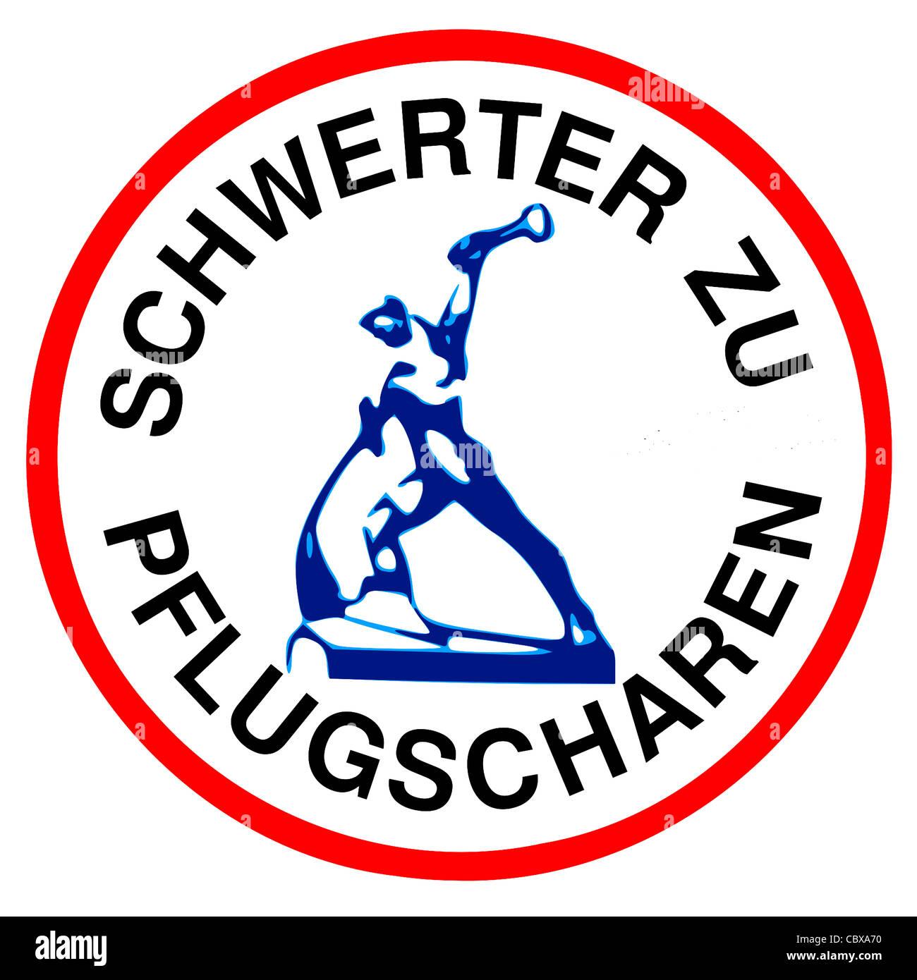 Logotipo del movimiento pacifista de la RDA. Imagen De Stock