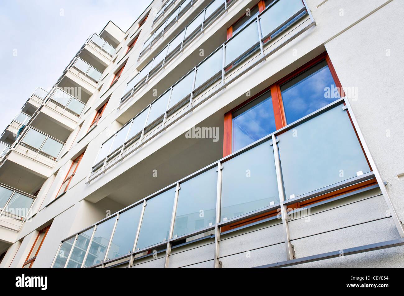 Balcón moderno diseño exterior inmobiliaria Imagen De Stock