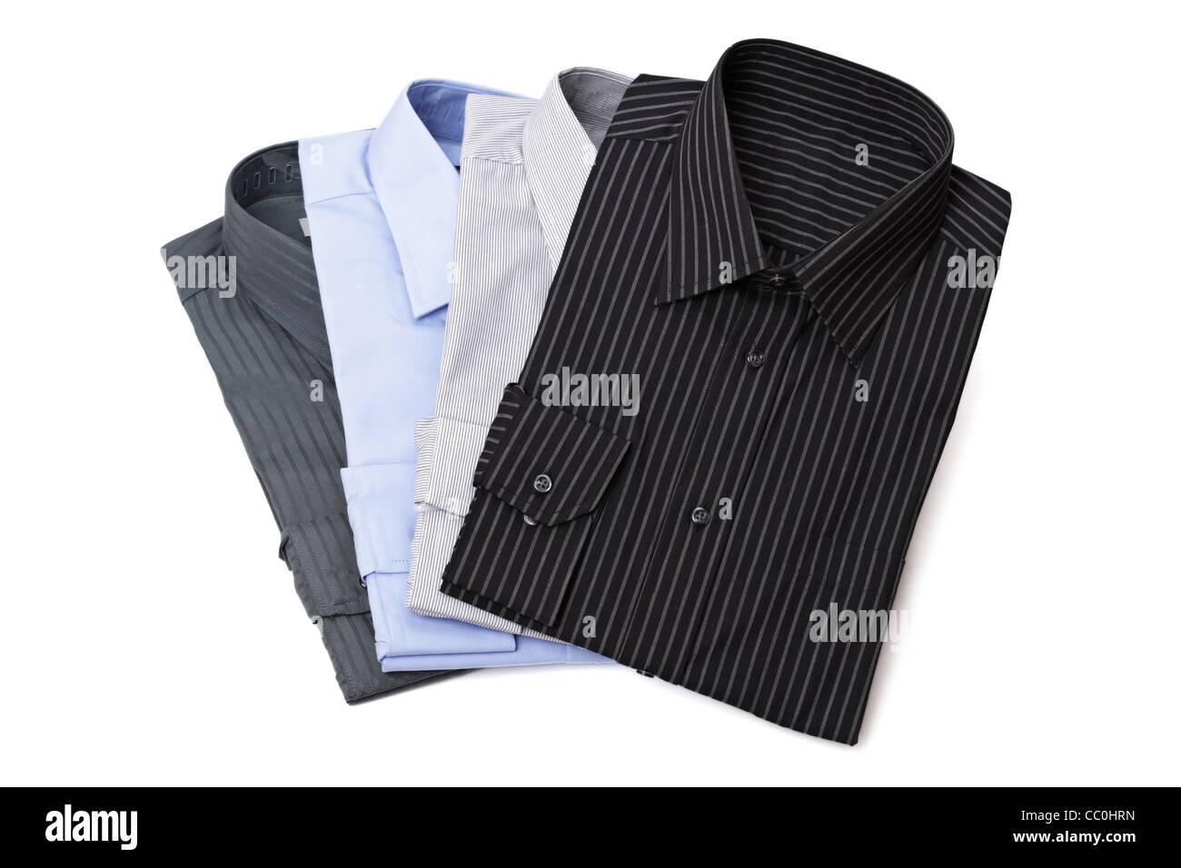 Las camisas del vestido de hombres nuevos Imagen De Stock