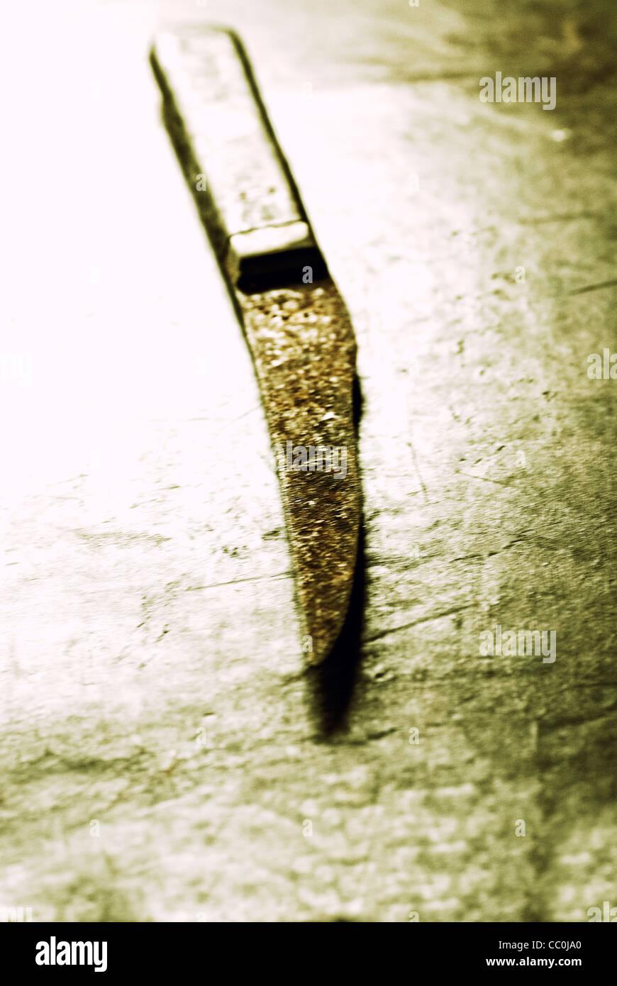 Cuchillo oxidado Imagen De Stock