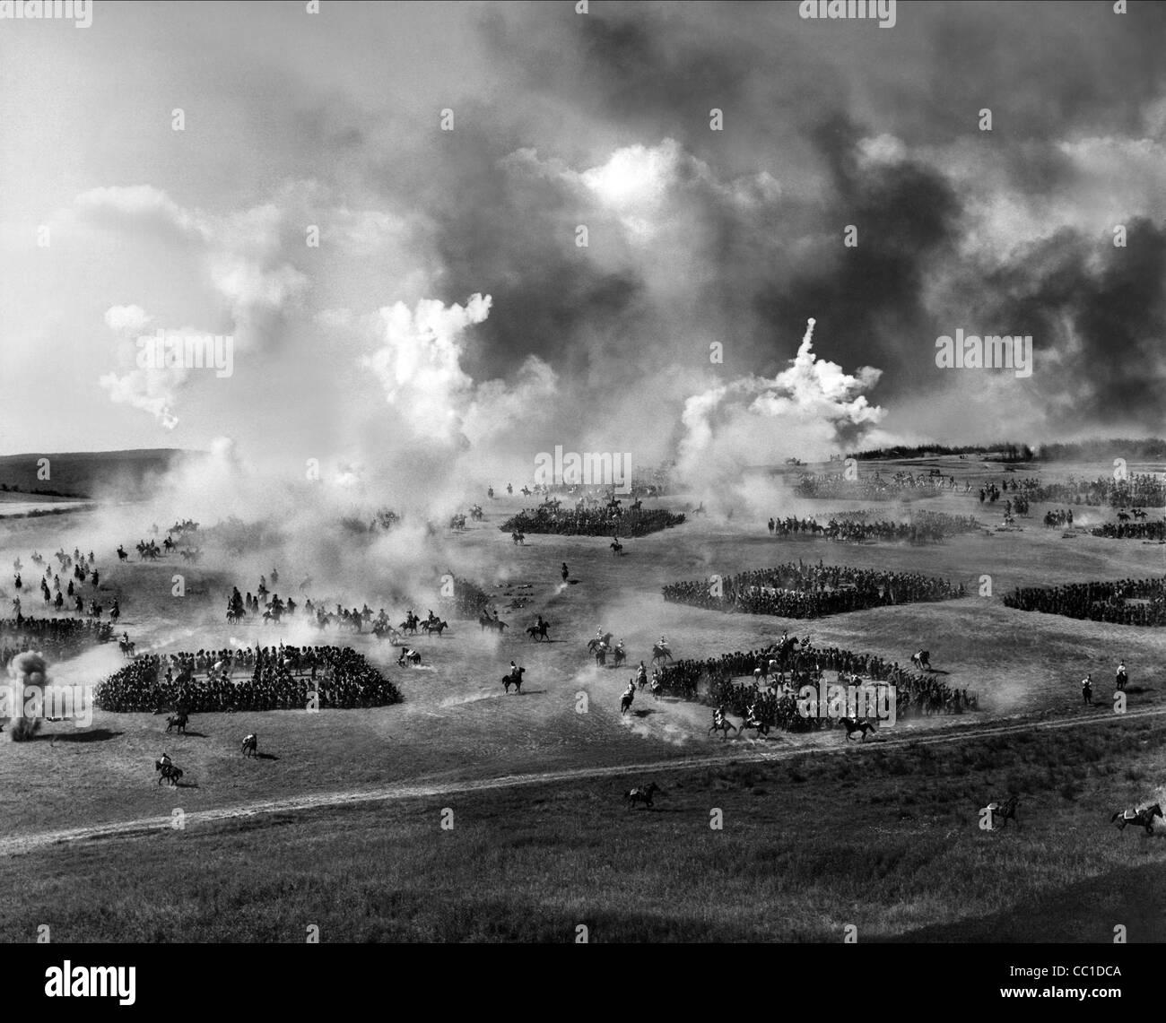 Campo de Batalla de Waterloo (1970) Foto de stock