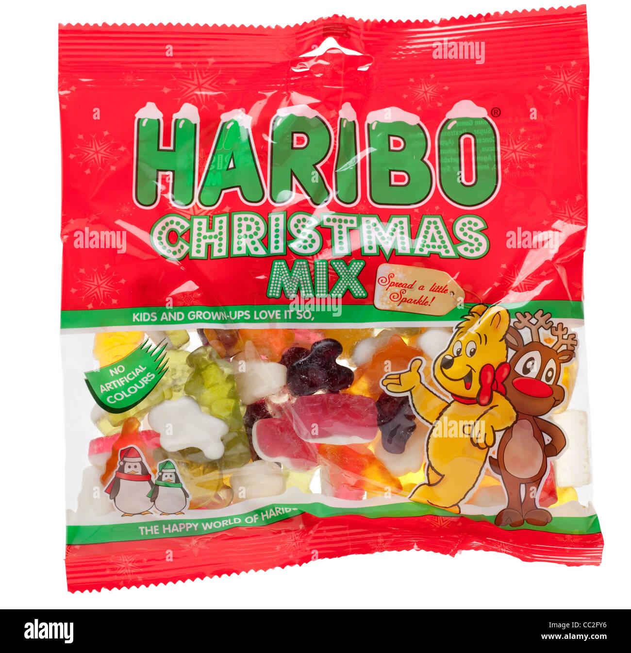 Mezcla de Navidad Haribo mastica Imagen De Stock