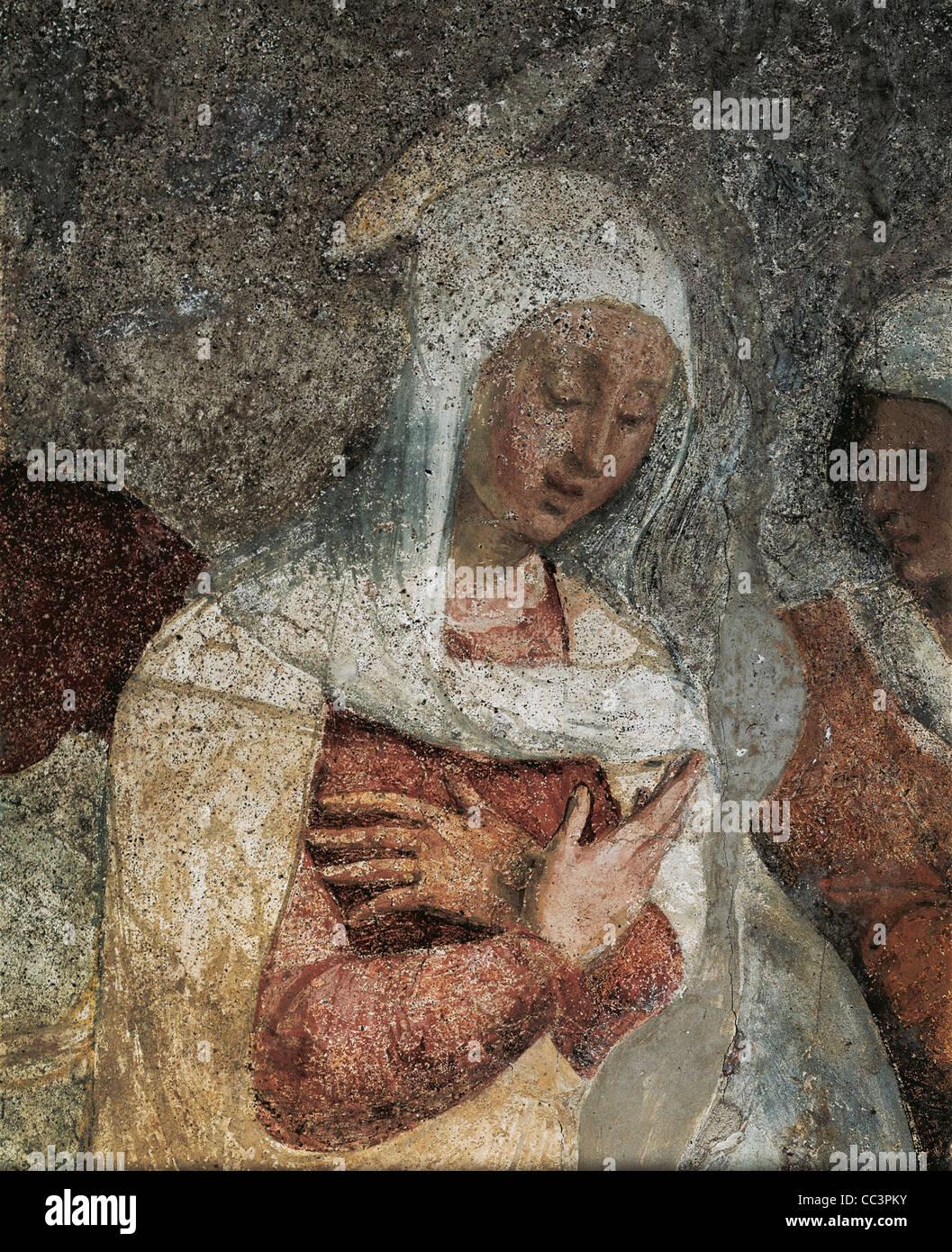 Liguria Chiavari Santuario de Nuestra Señora de Gracia de Teramo Piaggio fresco de la vida de Cristo Imagen De Stock