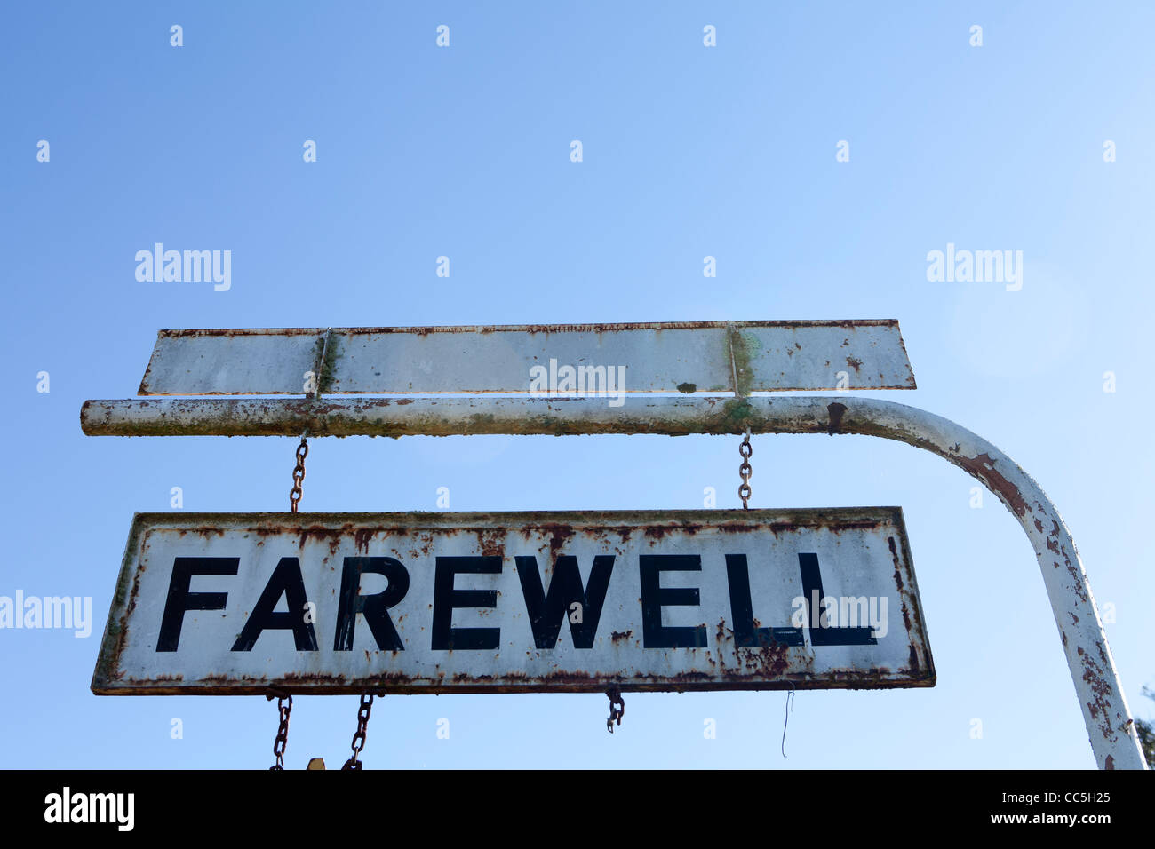 El signo de despedida que deje Rylstone en las Montañas Azules de Nueva Gales del Sur, Australia Imagen De Stock