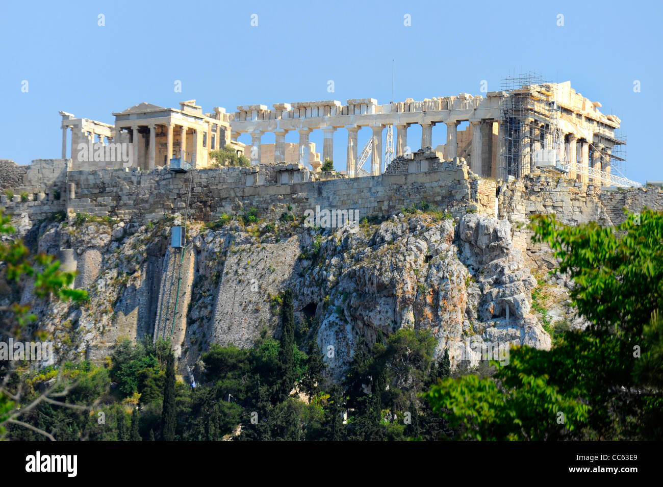 El Partenón, Acrópolis Atenas Grecia Kallikrates Iktinos Athena Imagen De Stock