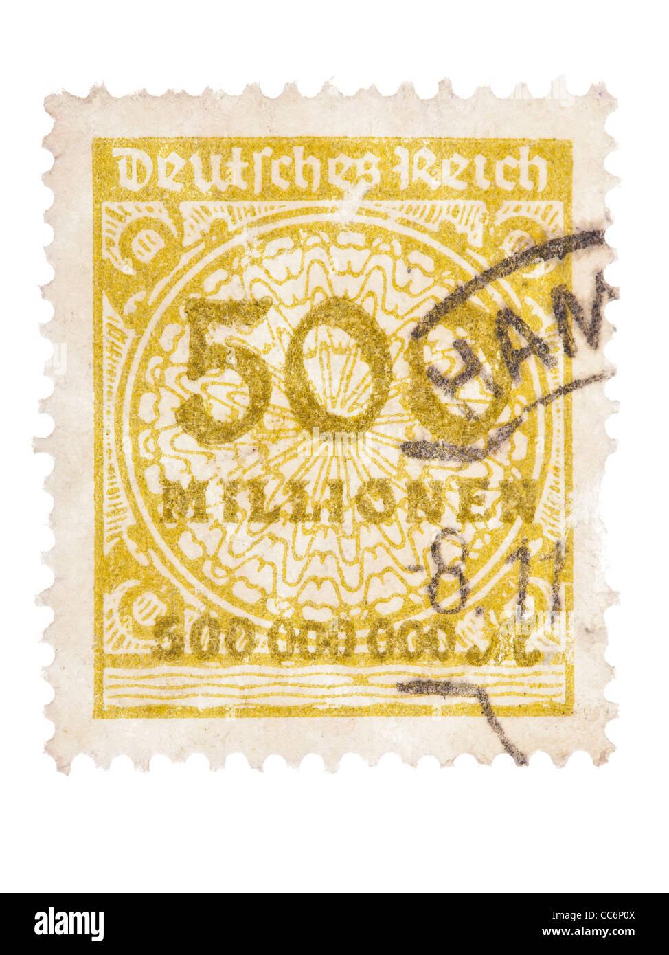 Sello: Imperio Alemán, Germania, 1923, 500 millones de marcos ...