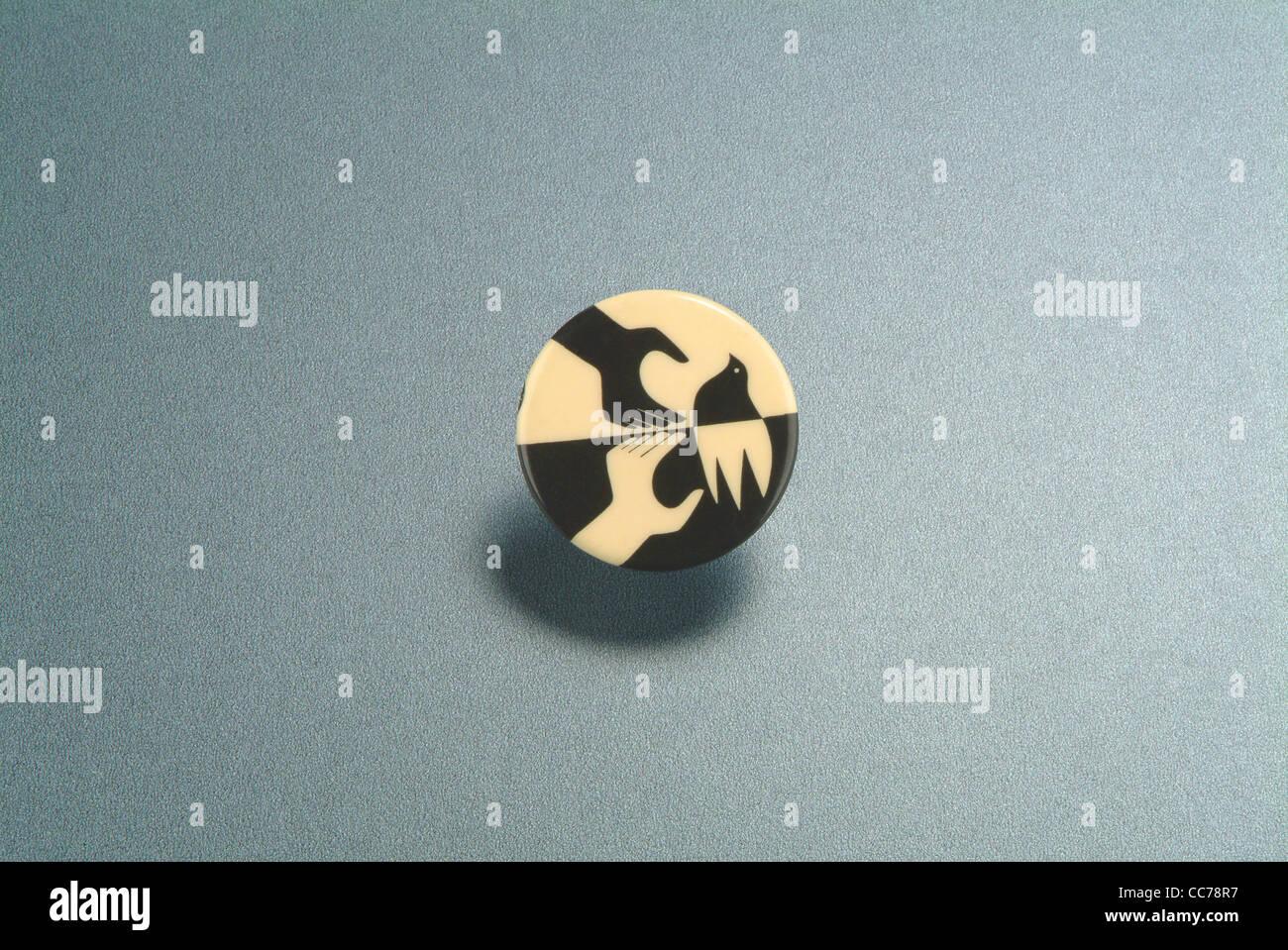 Botón de paz desde 1960 Imagen De Stock