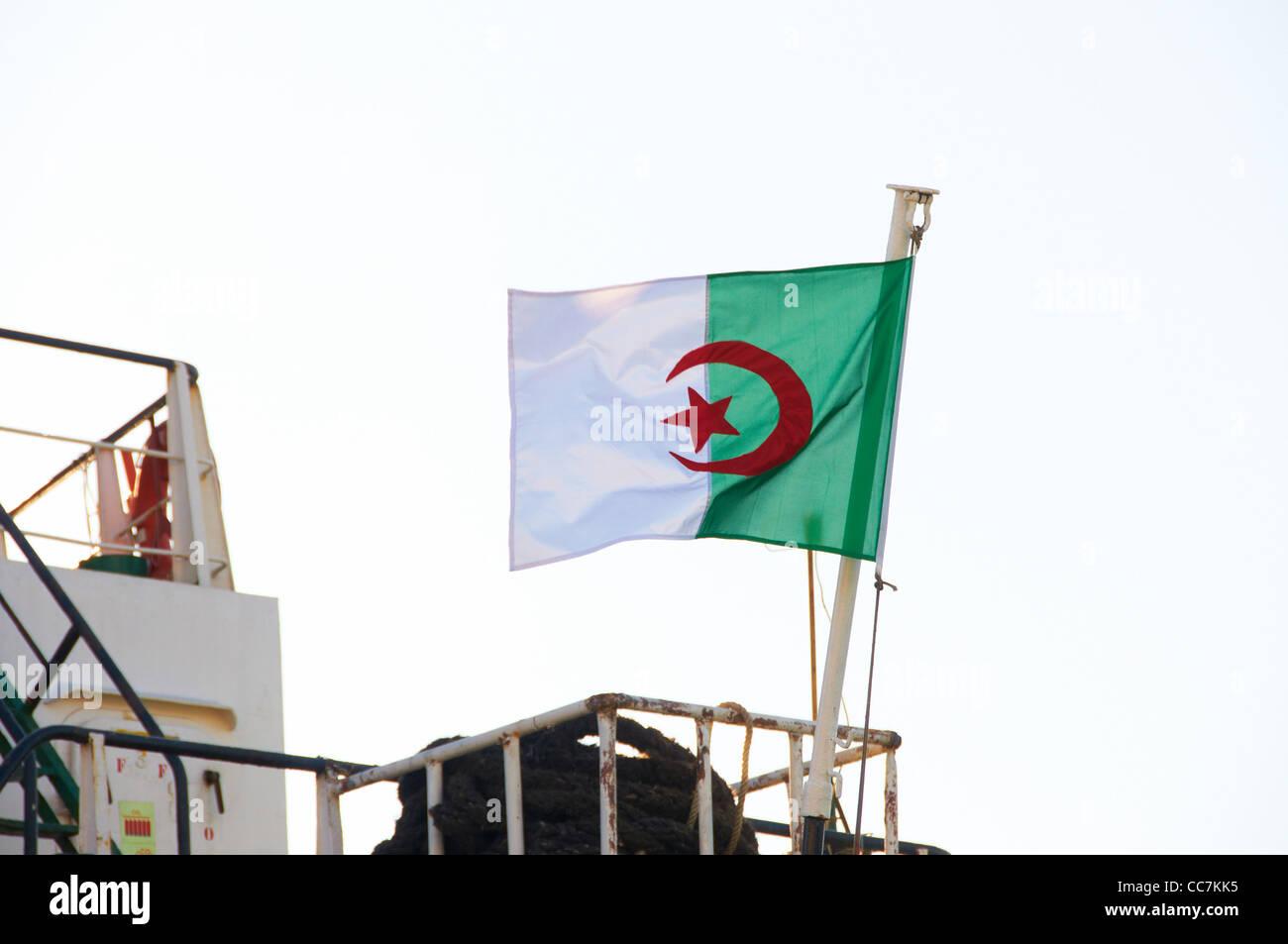 Bandera de Argelia Imagen De Stock