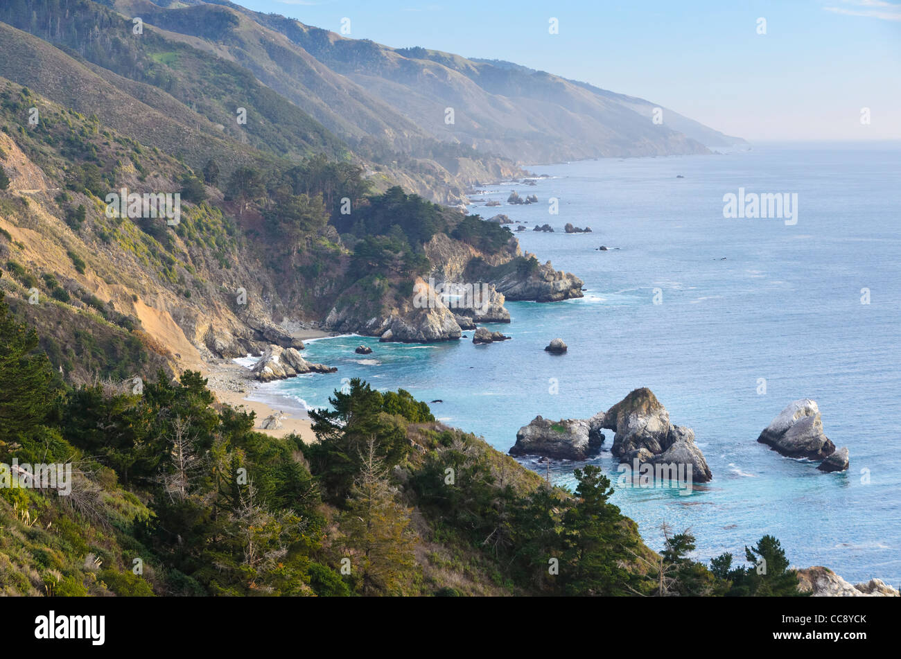 Costa central, Big Sur, cerca de Monterrey, California Imagen De Stock