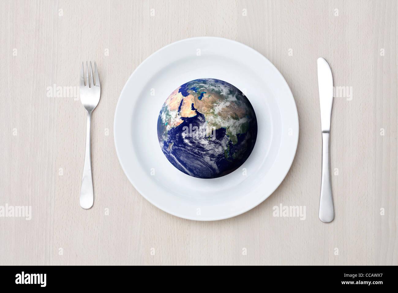 Hambre en el mundo Imagen De Stock