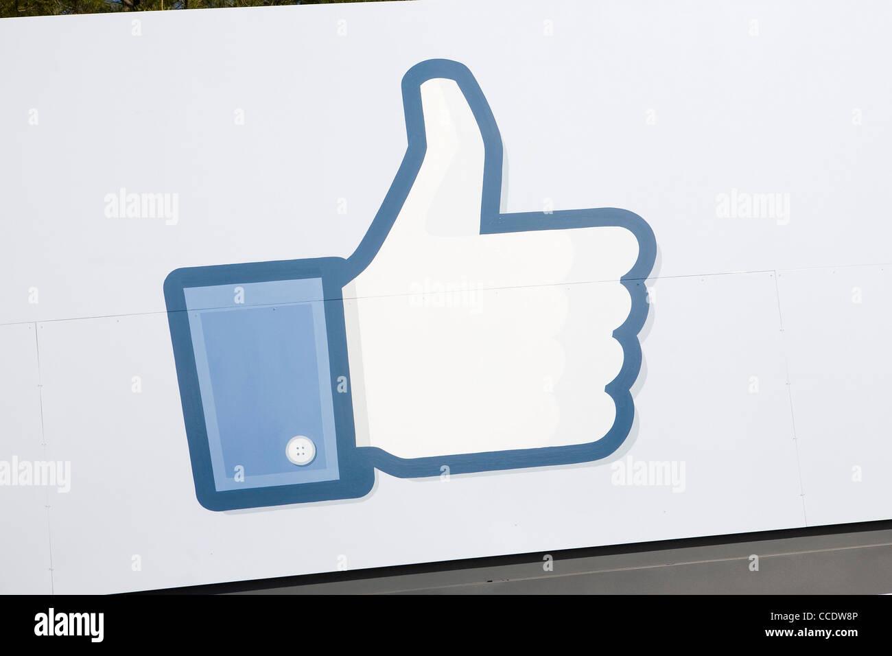 La sede de Facebook. Imagen De Stock