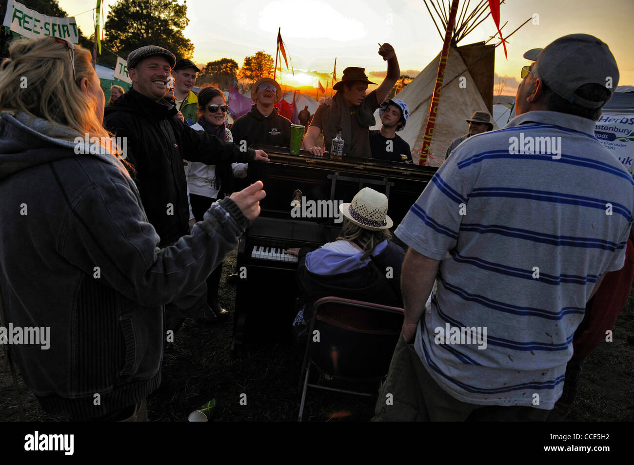 Festival de Música de Glastonbury 2011, Glastonbury, Pilton, Somerset Imagen De Stock