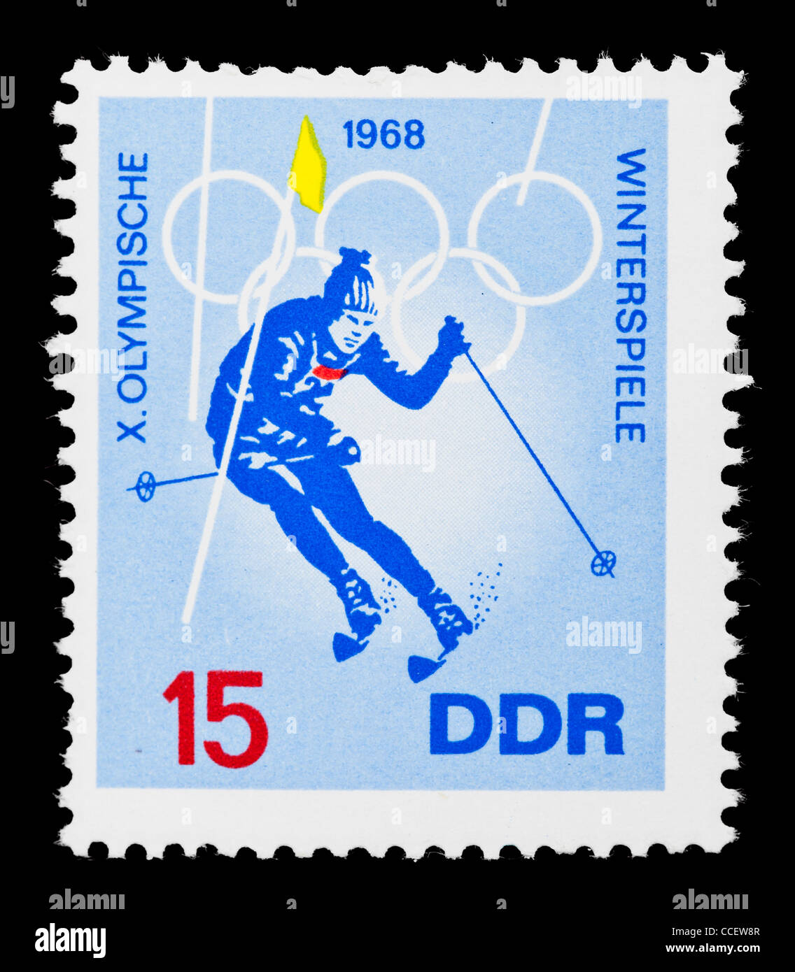 Sello X Juegos Olimpicos De Invierno De 1968 Ddr Mint Condition