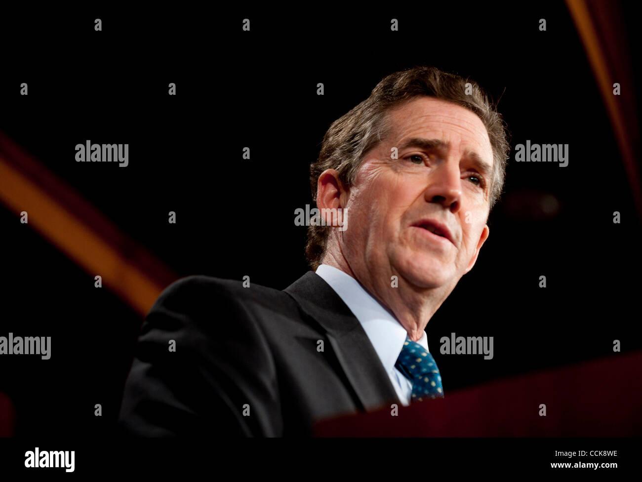 Dec 2, 2010 - Washington, Distrito de Columbia, el senador. JIM DEMINT (R-SC) habla a la prensa sobre la ''Ley Imagen De Stock
