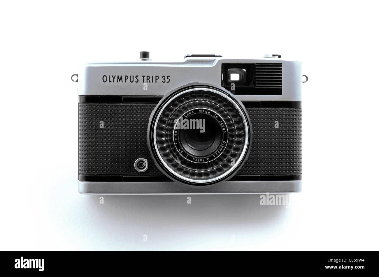 Un viaje de Olympus cámara de 35mm Imagen De Stock