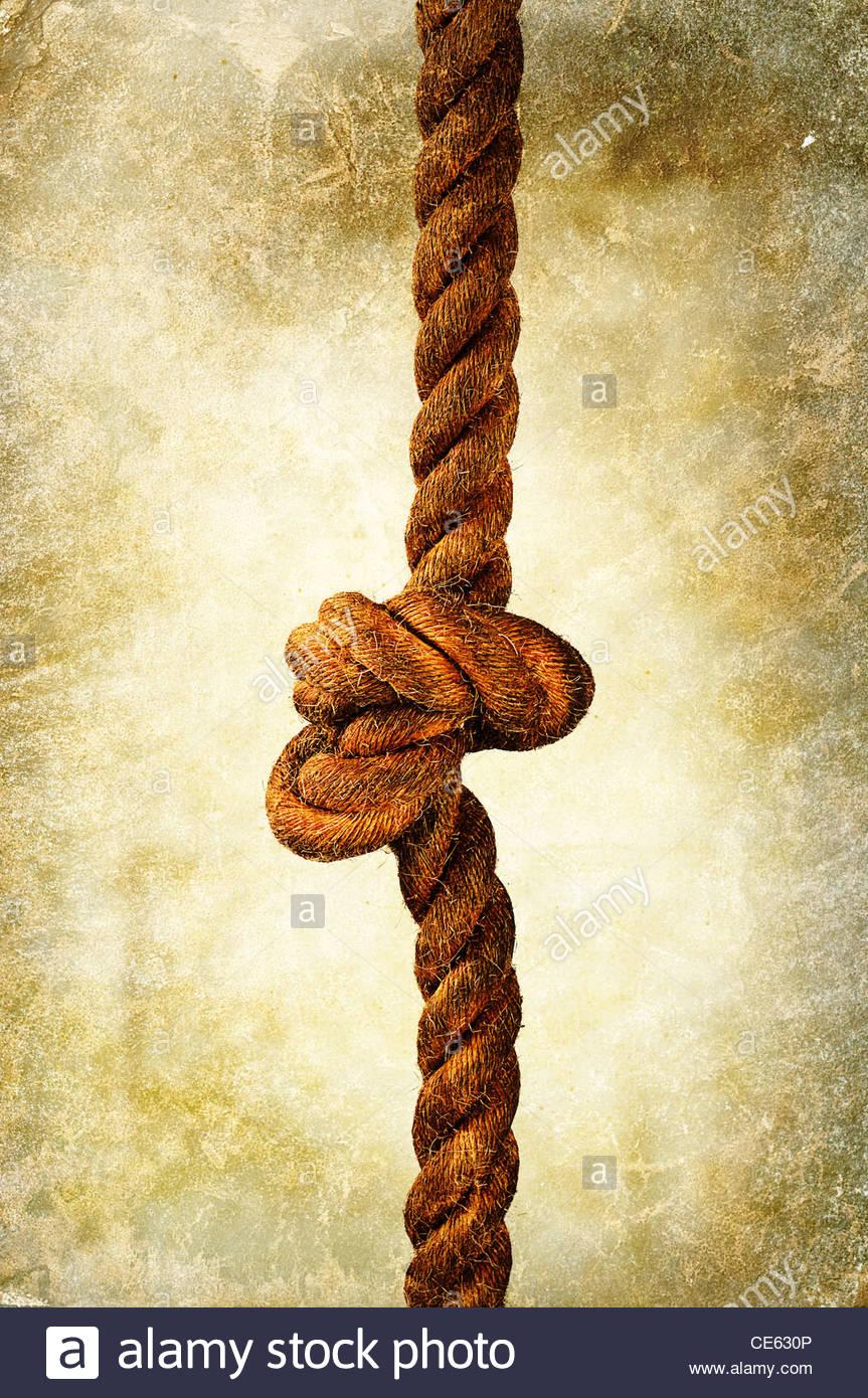 nudo de cuerda Imagen De Stock