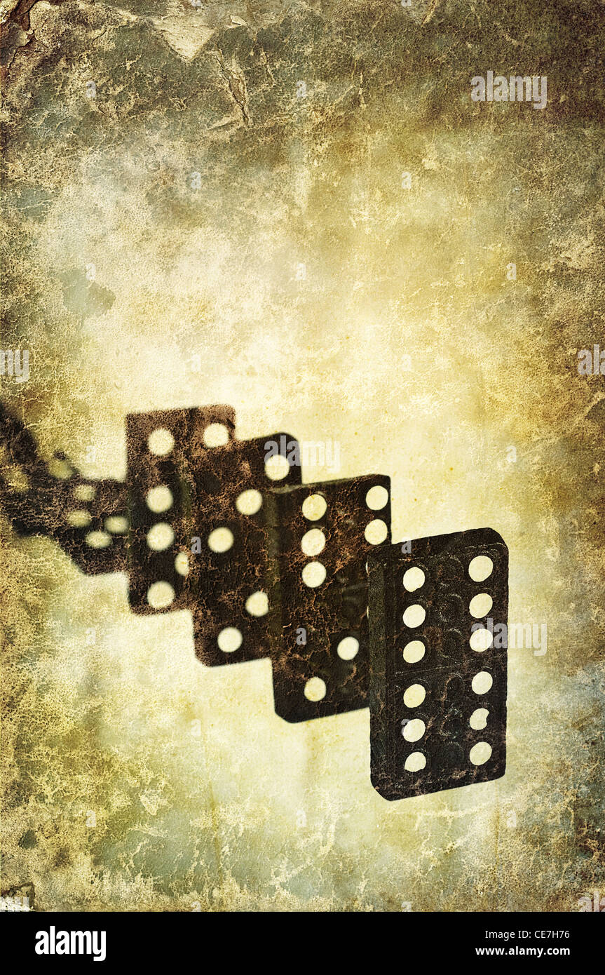 línea de Domino Imagen De Stock