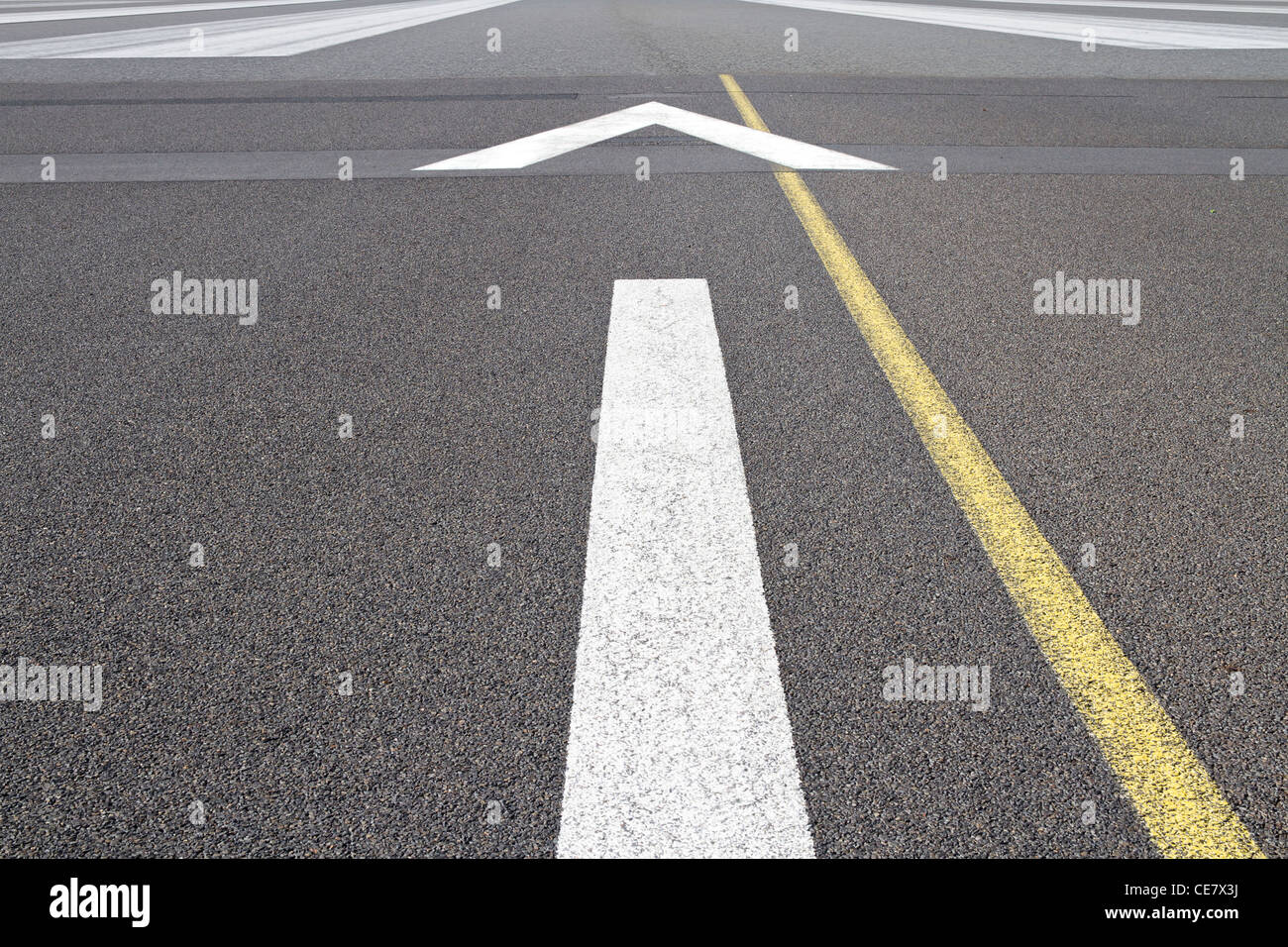 Directrices sobre la pista de aterrizaje Imagen De Stock
