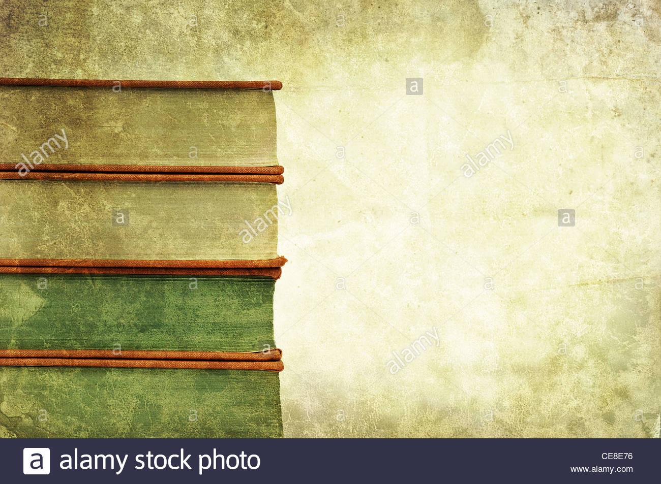 pila de libro antiguo Imagen De Stock