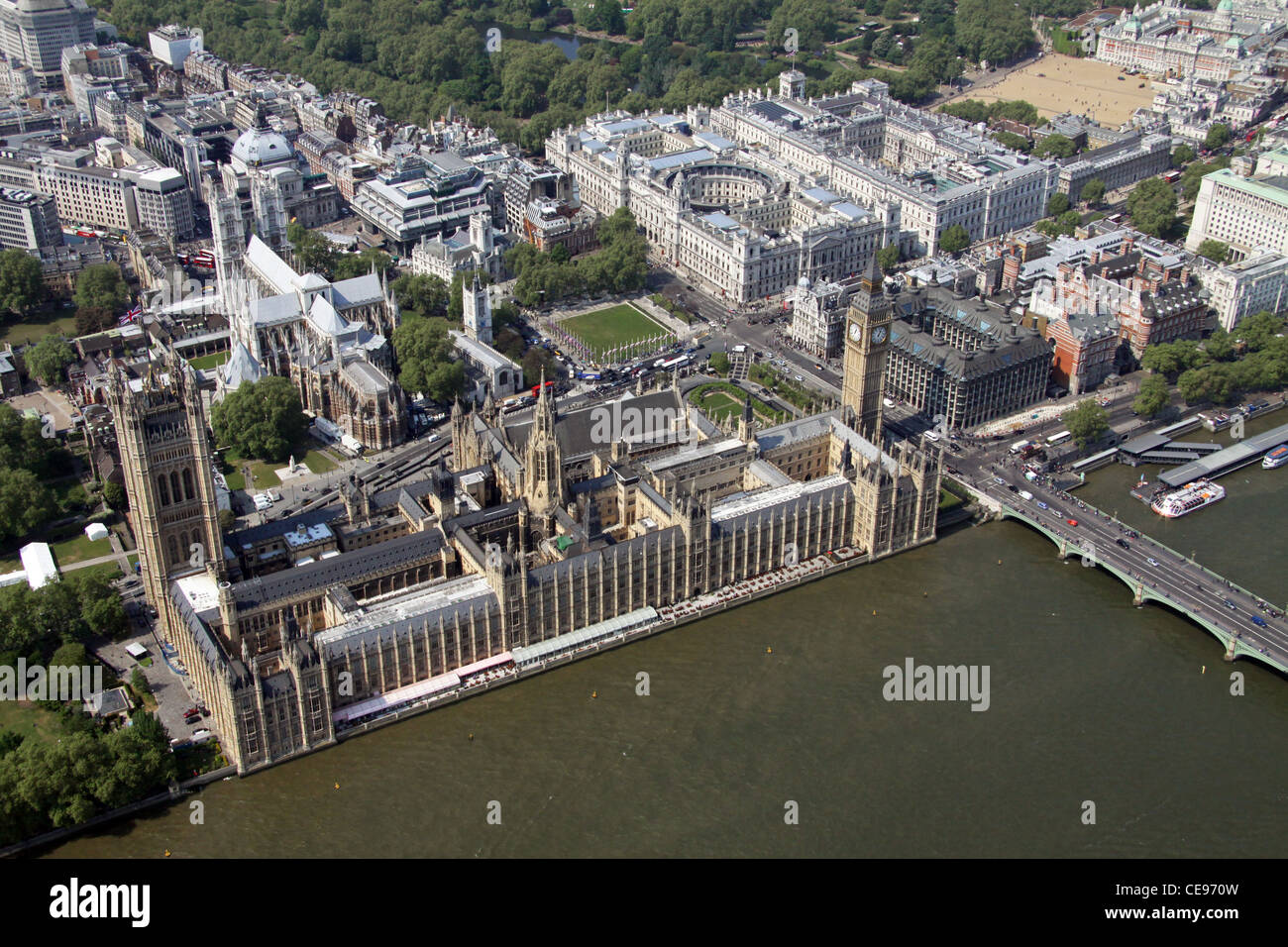 Imagen aérea de Las Casas del Parlamento, el London SW1 Imagen De Stock