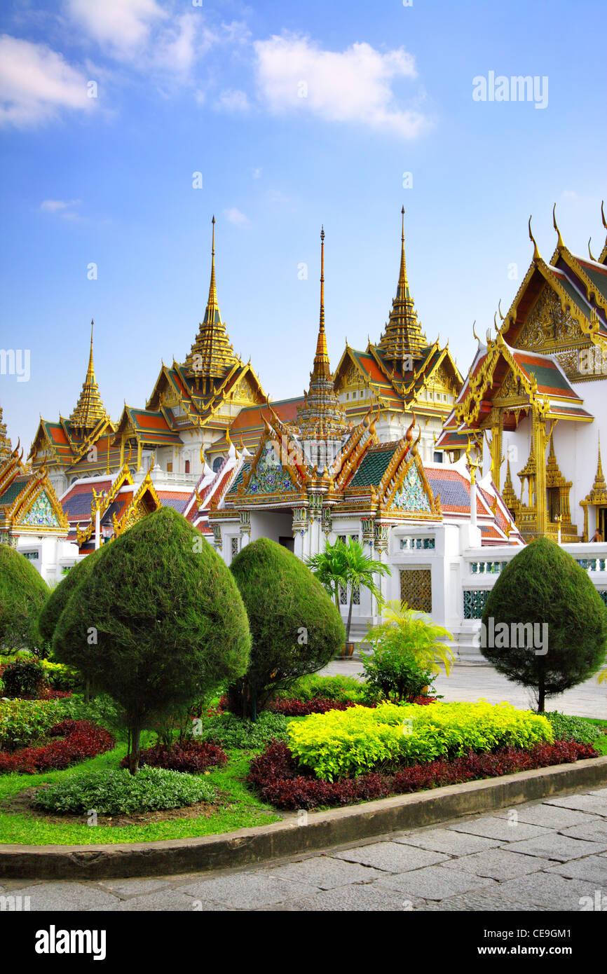 El complejo del Gran Palacio en Bangkok, Tailandia Imagen De Stock