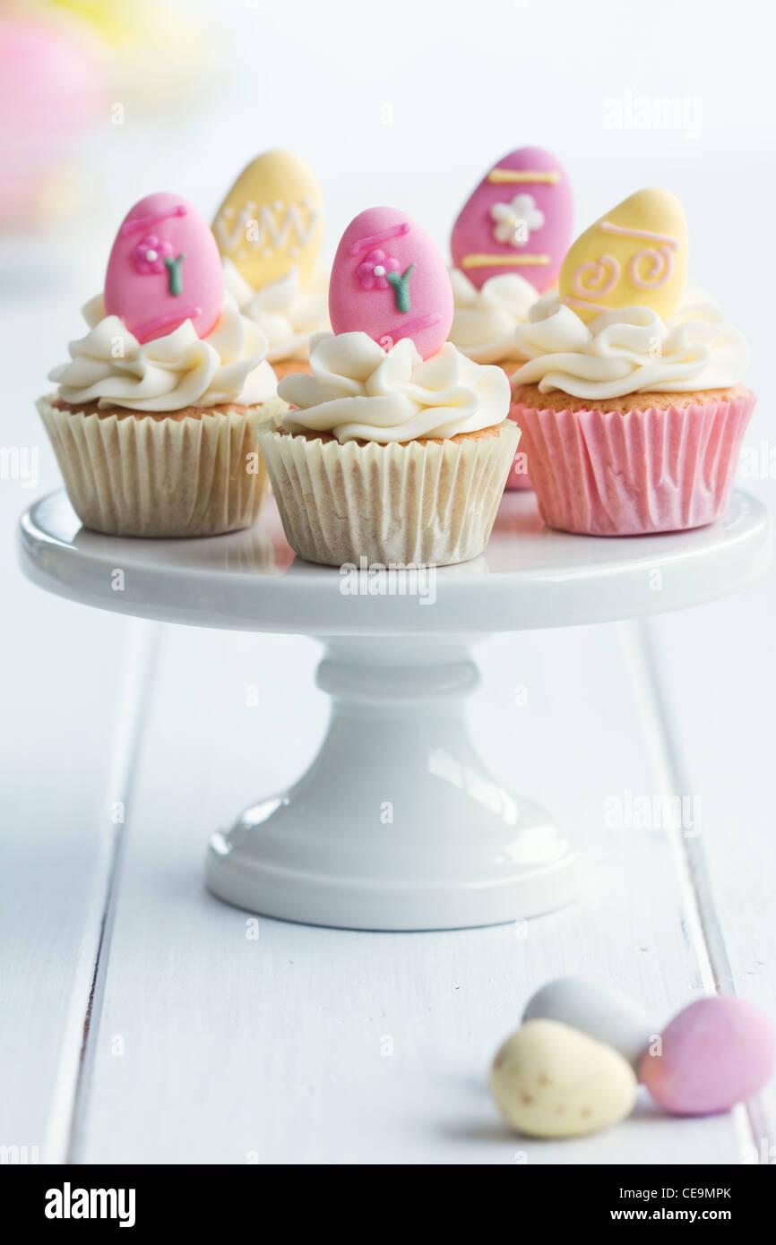 Cupcakes de Pascua Foto de stock