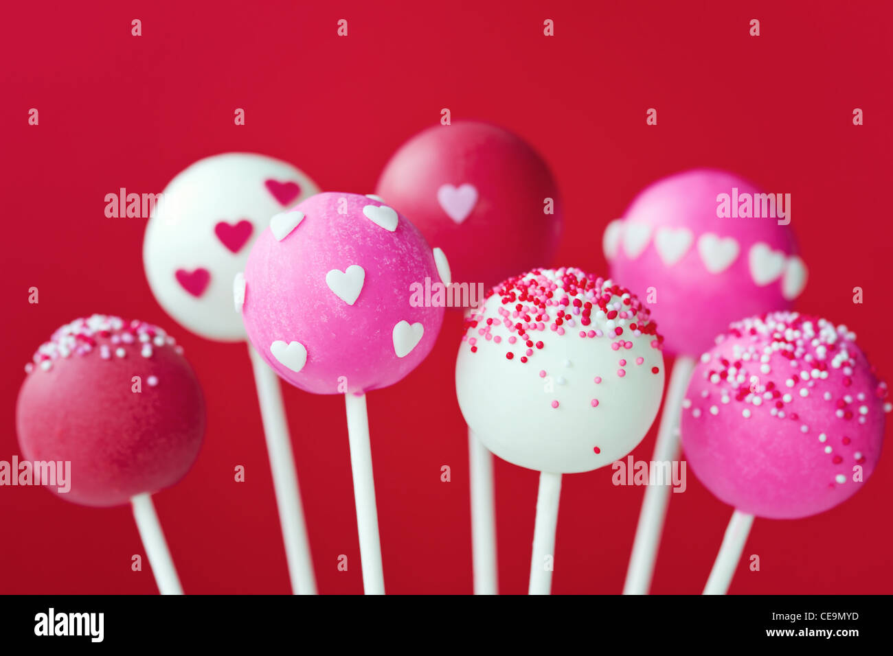 Valentine cake pops Imagen De Stock