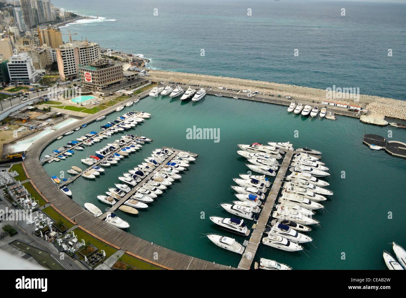 St.George Marina en Beirut, Seaport Imagen De Stock