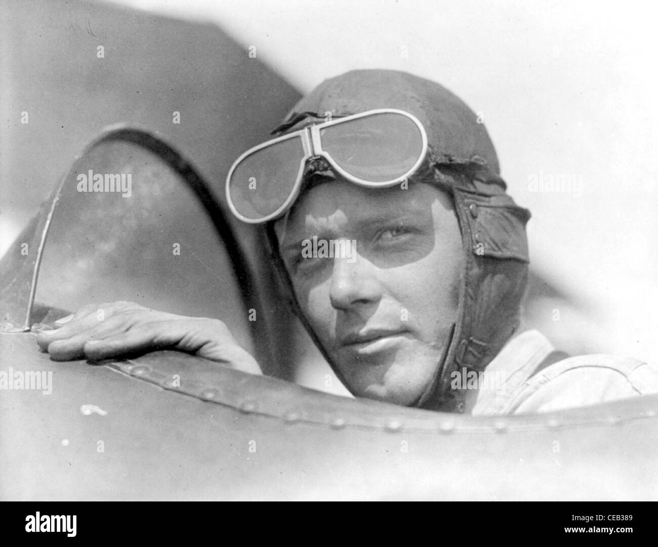 Charles Augustus Lindbergh era un aviador americano, autor, inventor, explorer y activista social. Imagen De Stock